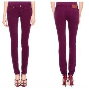 TORY BURCH Plum Purple Ivy Super Skinny Jeans 27